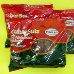 Chocolate Baño Moldeo Semiamargo Sin Azucar X  500 G - Cuber Suiz Cuber Suiz - 1