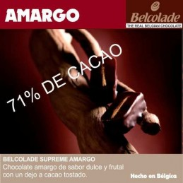 Chocolate Cobertura Amargo Para Templar X   1 Kg - Belcolade Belcolade - 1