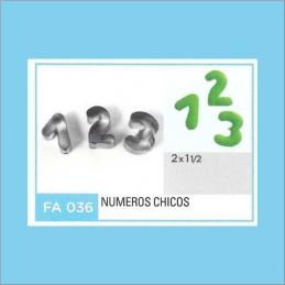 Cortante Metal Numeros Chicos - Fa036 X Unid. - Flogus Flogus - 1