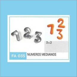 Cortante Metal Numeros Medianos - Fa035 X Unid. - Flogus Flogus - 1