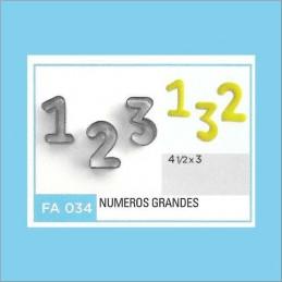 Cortante Metal Numeros Grandes - Fa034 X Unid. - Flogus Flogus - 1