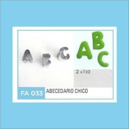 Cortante Metal Abecedario Chico   - Fa033 X Unid. - Flogus Flogus - 1