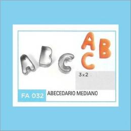 Cortante Metal Abecedario Mediano - Fa032 X Unid. - Flogus Flogus - 1