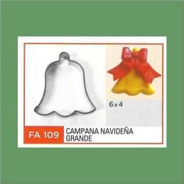 Cortante Metal Campana Navideña Grande - Fa109 X Unid. - Flogus Flogus - 1