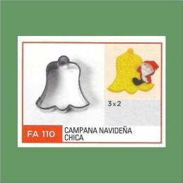 Cortante Metal Campana Navideña Chica - Fa110 X Unid. - Flogus Flogus - 1