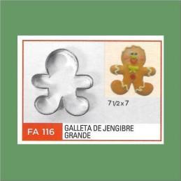 Cortante Metal Galleta De Jengibre Grande - Fa116 X Unid. - Flogus Flogus - 1
