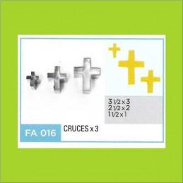 Cortante Metal Cruces - Fa016 X    3 Unid. - Flogus Flogus - 1