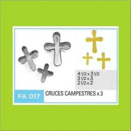 Cortante Metal Cruces Campestres - Fa017 X    3 Unid. - Flogus Flogus - 1