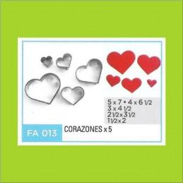 Cortante Metal Corazones - Fa013 X    5 Unid. - Flogus Flogus - 1