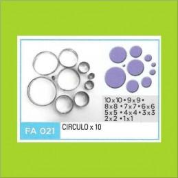 Cortante Metal Circulos - Fa021 X   10 Unid. - Flogus Flogus - 1