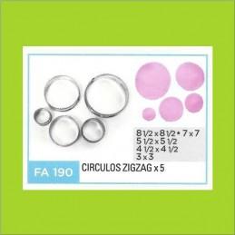 Cortante Metal Circulos Zig-Zag - Fa190 X    5 Unid. - Flogus Flogus - 1