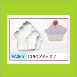 Cortante Metal Cupcake - Fa365 X    2 Unid. - Flogus Flogus - 1
