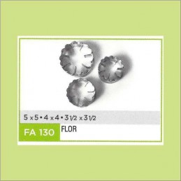 Cortante Metal Flor Nº 130 - Fa130 X Unid. - Flogus Flogus - 1
