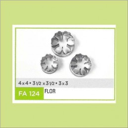 Cortante Metal Flor Nº 124 - Fa124 X Unid. - Flogus Flogus - 1