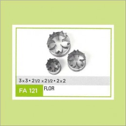 Cortante Metal Flor Nº 121 - Fa121 X Unid. - Flogus Flogus - 1