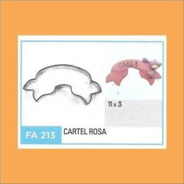 Cortante Metal Cartel Rosa     - Fa213 X Unid. - Flogus Flogus - 1