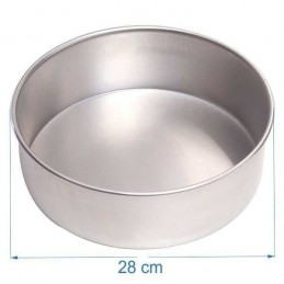 Molde Torta Aluminio Alt. 8 Cm Nº28 X Unid.  - 1
