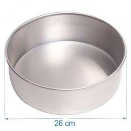 Molde Torta Aluminio Alt. 8 Cm Nº26 X Unid.  - 1