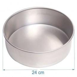 Molde Torta Aluminio Alt. 8 Cm Nº24 X Unid.  - 1