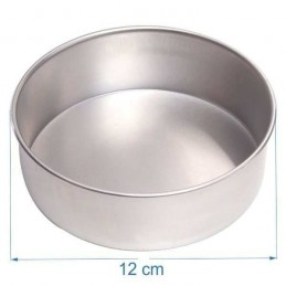 Molde Torta Aluminio Alt. 8 Cm Nº12 X Unid.  - 1