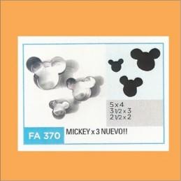 Cortante Metal Mickey - Fa370 X    3 Unid. - Flogus Flogus - 1