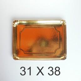 Bandeja De Carton Dorada Rectangular 31 X 38 X Unid.  - 1