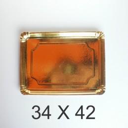 Bandeja De Carton Dorada Rectangular 34 X 42 X Unid.  - 1