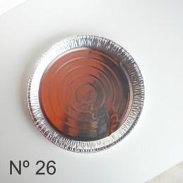 Tartera De Aluminio Redonda Descartable Nº 26 X Unid.  - 1