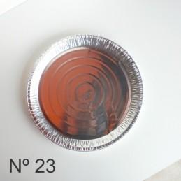 Tartera De Aluminio Redonda Descartable Nº 23 X Unid.  - 1