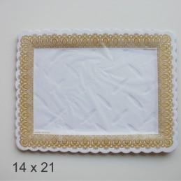 Bandeja De Carton Labrada Rectangular 14 X 21 X Unid.  - 1