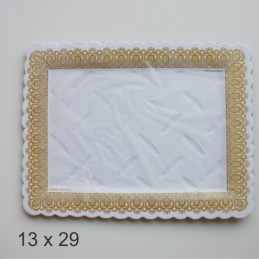 Bandeja De Carton Labrada Rectangular 13 X 29 X Unid.  - 1