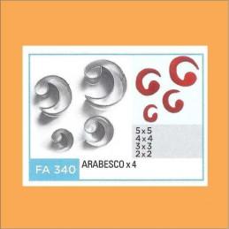 Cortante Metal Arabesco - Fa340 X    4 Unid. - Flogus Flogus - 1