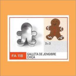 Cortante Metal Galleta De Jengibre Chica - Fa118 X Unid. - Flogus Flogus - 1