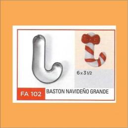 Cortante Metal Baston Navideño Grande - Fa102 X Unid. - Flogus Flogus - 1