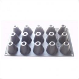 Molde De Silicona Conos 26 X 15 Cm X Unid.  - 1