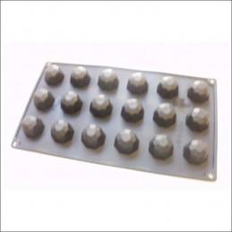 Molde De Silicona Esfera Facetada 26 X 15 Cm X Unid.  - 1