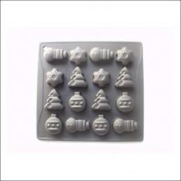 Molde De Silicona Bombones - Figuras Navideñas X Unid.  - 1