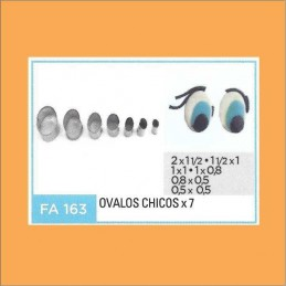 Cortante Metal Ovalos Chicos - Fa163 X    7 Unid. - Flogus Flogus - 1