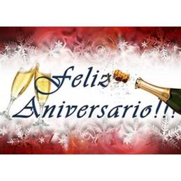 Lamina Cubretorta Feliz Aniversario 02 X Unid.  - 1