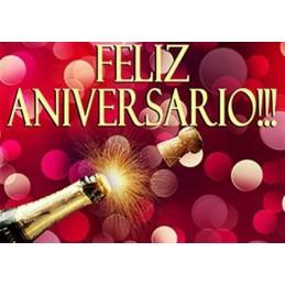 Lamina Cubretorta Feliz Aniversario 04 X Unid.  - 1