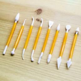 Esteca Plastica Para Modelar Premium X    8 Unid.  - 1