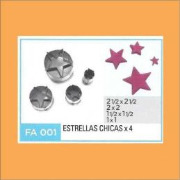Cortante Metal Estrellas Chicas - Fa001 X    4 Unid. - Flogus Flogus - 1