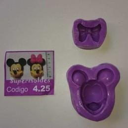Molde Cara De Minnie y Mickey - 425 X Unid.  - 1