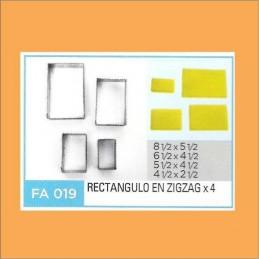 Cortante Metal Rectangulo Zig Zag - Fa019 X    4 Unid. - Flogus Flogus - 1