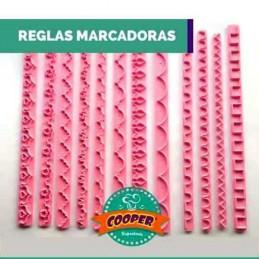 Reglas Marcadoras X   12 Unid.  - 1