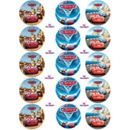 Lamina Para Cupcake Cars X   15 Unid.  - 1