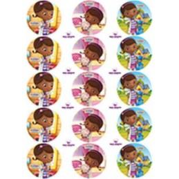 Lamina Para Cupcake Doctora Juguetes X   15 Unid.  - 1