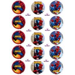 Lamina Para Cupcake Spiderman X   15 Unid.  - 1