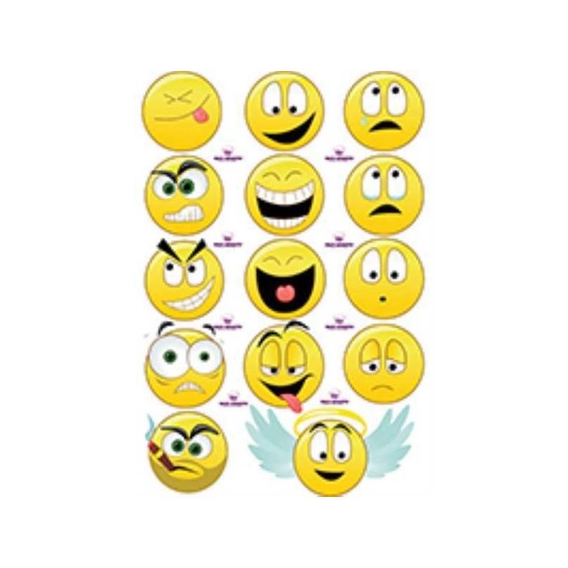 Lamina Para Cupcake Emoticones X 15 Unid