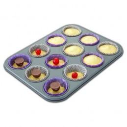 Molde Cupcakes De Teflon Para 12 Unid. X Unid.  - 1